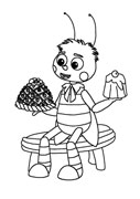 Раскраска для малышей лунтик