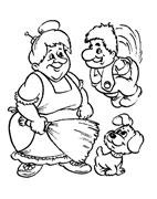 Детская раскраска карлсон и фрекен
