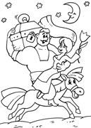 Детская раскраска как казаки невест