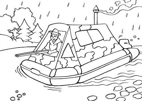 лодка спасателей рисунок