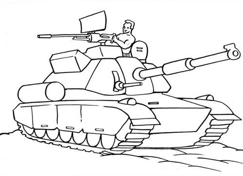 Фото раскраски танка