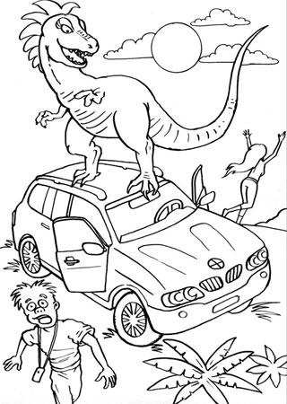 Разукраска для детей динозавр на