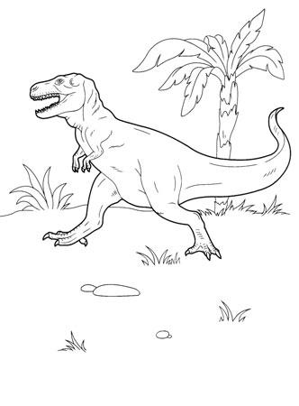 Раскраска динозавр, картинка с динозаврами, рисунки динозавров детские для разукрашивания, тиранозавр хищный динозавр.