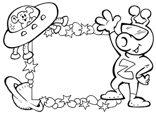 Раскраска для детей рамки лунатики