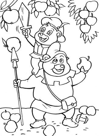 Гамми малыш и толстун собирают яблоки