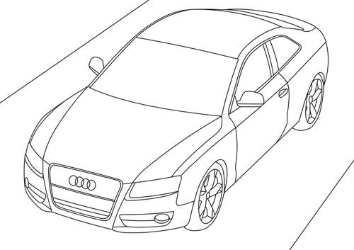 Раскраска онлайн автомобили audi
