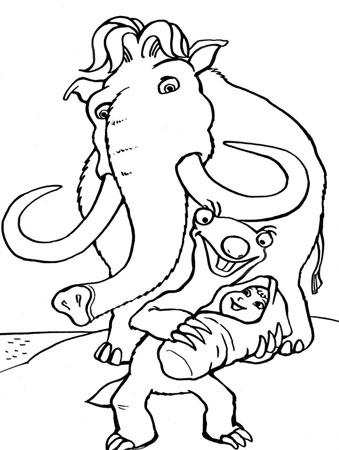 Раскраска для малышей ледниковый
