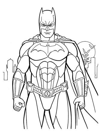 Раскраска онлайн бэтмен темный