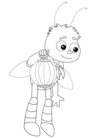 Раскраска для малышей пчелёнок друг